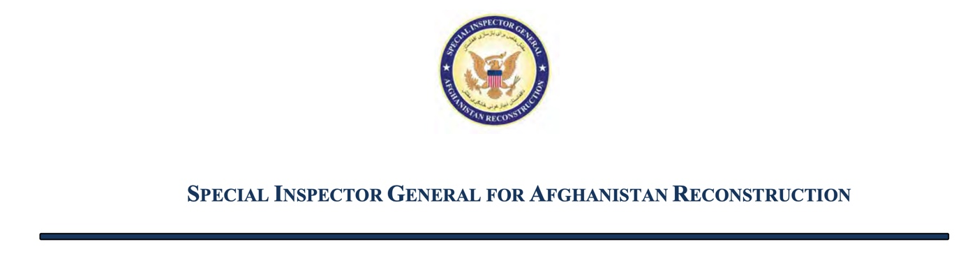 Records of the Special Inspector General for Afghanistan Reconstruction