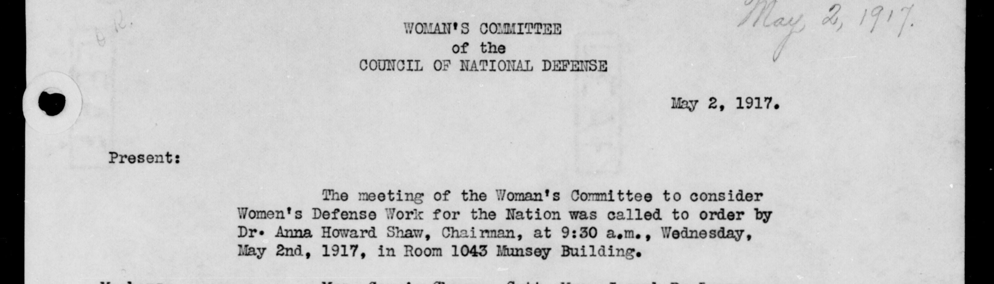 Records of the Council of National Defense
