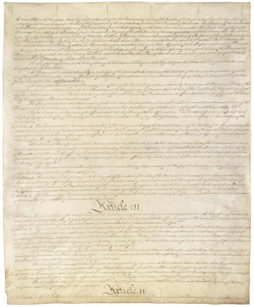 the constitution of the united states national archives