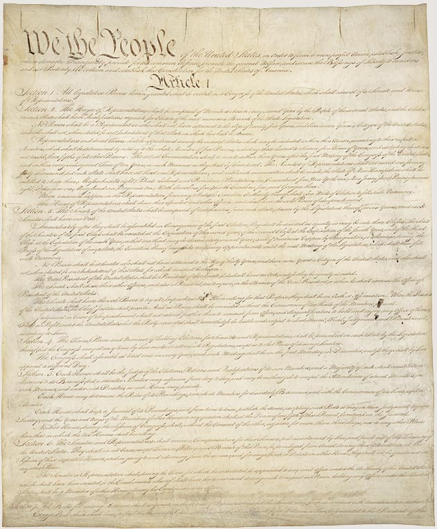 This is a picture of Unforgettable Printable Copy of the Constitution