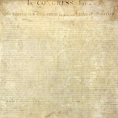 declaration of independence transcript