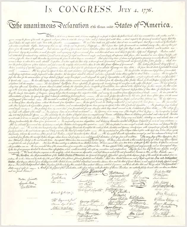 the declaration of independence national archives
