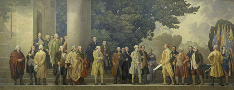 The Declaration: Mural by Barry Faulkner