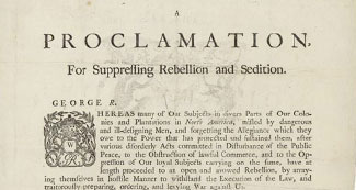 A Proclamation by the King for Suppressing Rebellion and Sedition