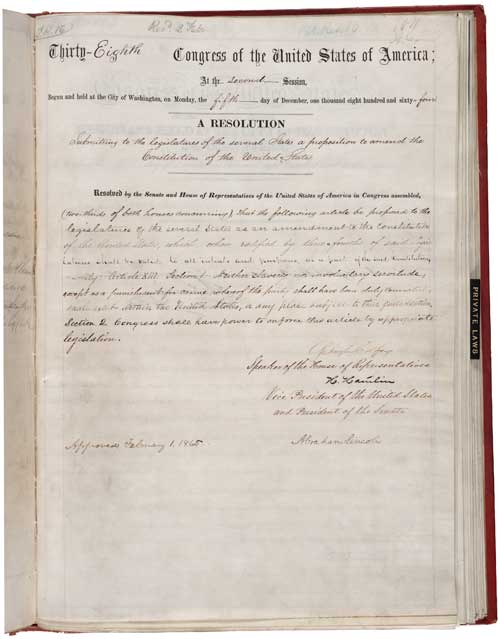 13th Amendment to the U.S. Constitution: Abolition of Slavery
