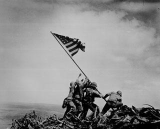 Photograph of Flag Raising on Iwo Jima, 02/23/1945