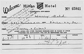 Todays document from the national archives julius ethel rosenberg and martin sobell government exhibit 16 registration forms from the hilton hotel albuquerque new mexico for harry gold altavistaventures