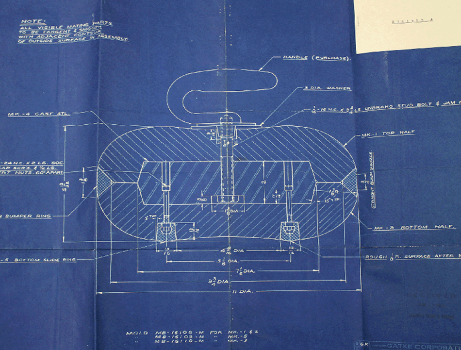 Records reveal winter olympics history national archives this blueprint for a curling stone submitted with patent 3188088 by frank t gatke in malvernweather Images