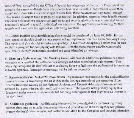 Initial Guidance to Agencies for Implementing the Nazi War Crimes Disclosure Act - 3