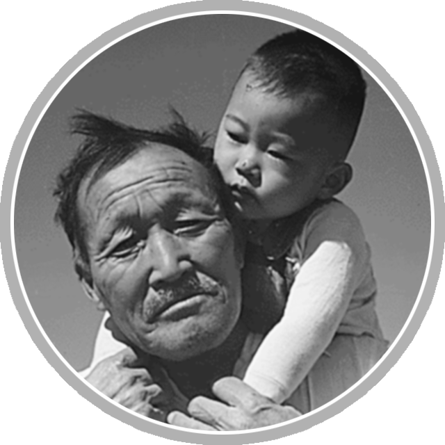 Japanese Internment feature articles page circle graphic