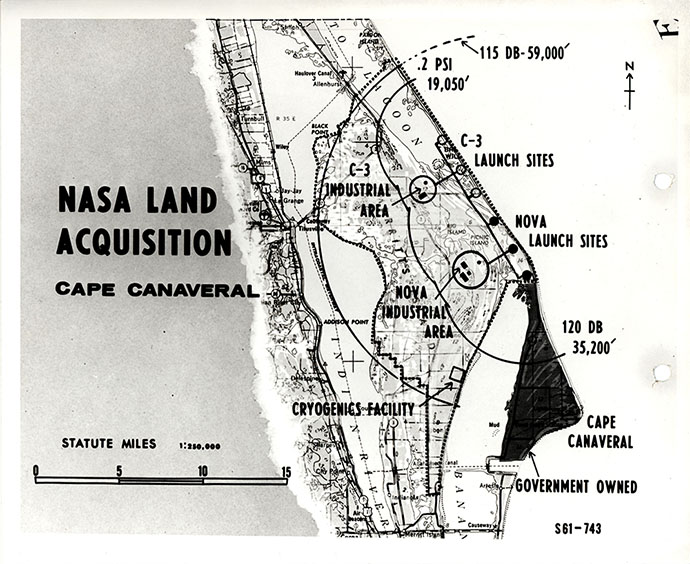 NASA Land Acquisition Map of Cape Canaveral, Florida, ca ... Cape Canaveral Map on myakka map, southwest gulf coast map, cape kennedy map, frostproof map, cape blanco map, cape hatteras map, canaveral groves map, beach in indialantic fl map, lake okeechobee map, gladeview map, cape cod map, great basin map, south daytona beach map, canaveral port authority map, florida map, canaveral barge canal map, st. augustine map, key west map, cape flattery map, the everglades map,