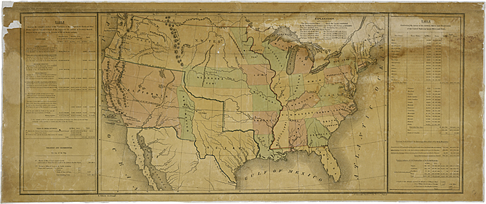 Map of the United States including Western Territories December