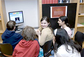 Students in the Learning Lab