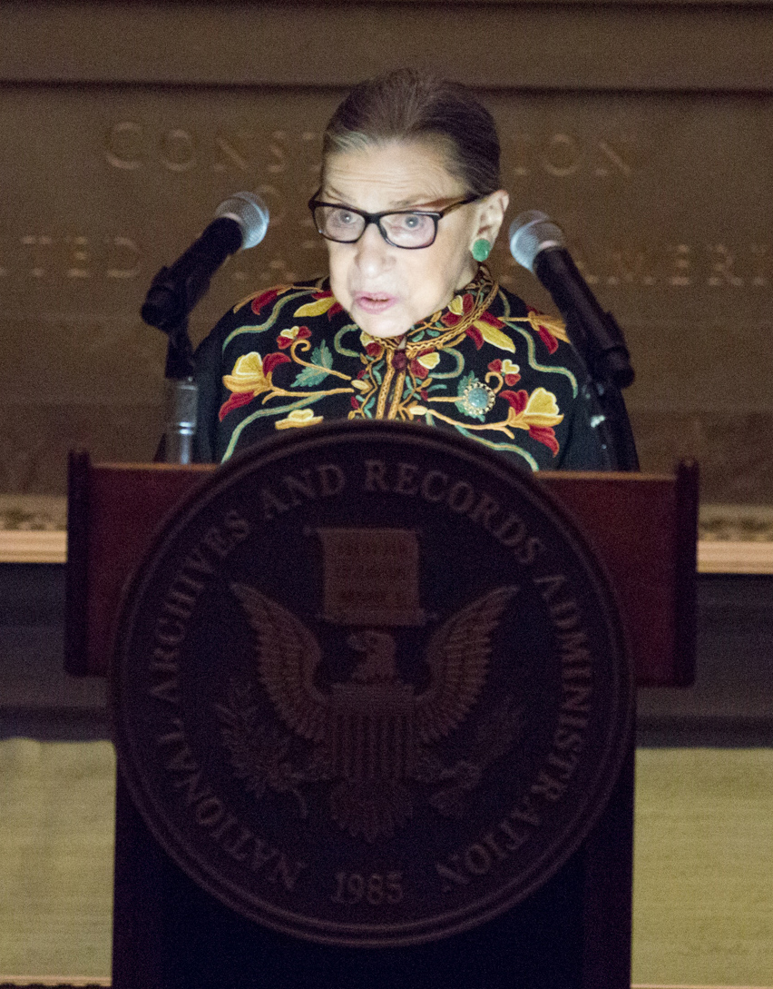 Supreme Court Justice Ruth Bader Ginsburg Welcomes New