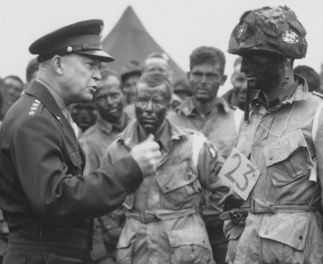 Eisenhower talking to D-Day troops