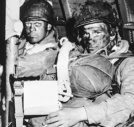 paratroopers on the way to Normandy, 6/6/1944