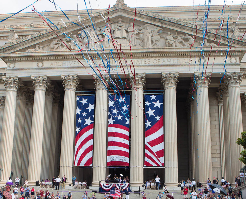 National Archives Building on July 4