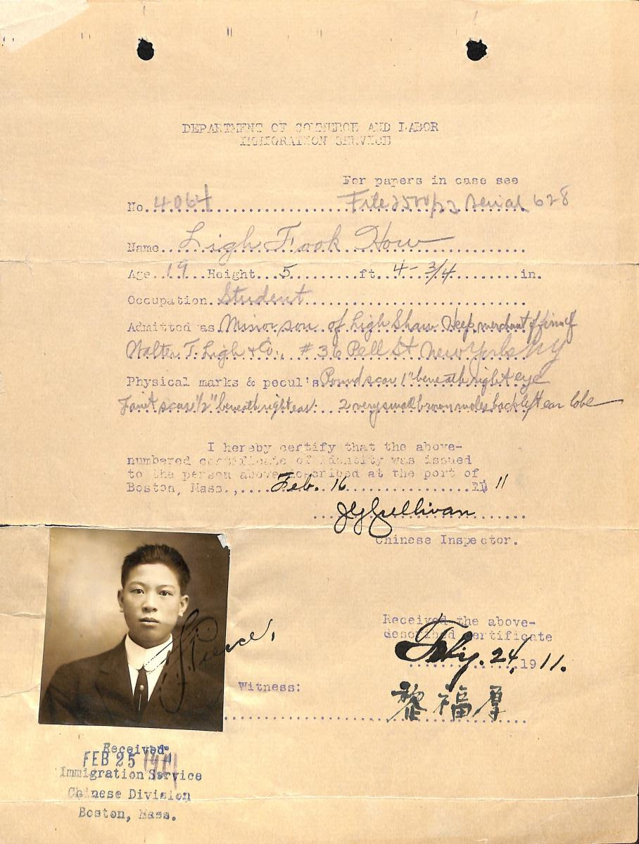 Chinese exclusion record