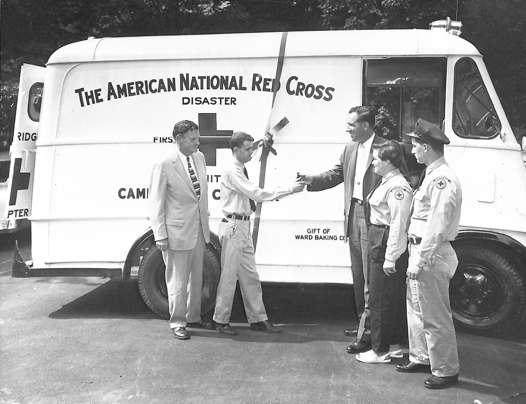 Red cross truck