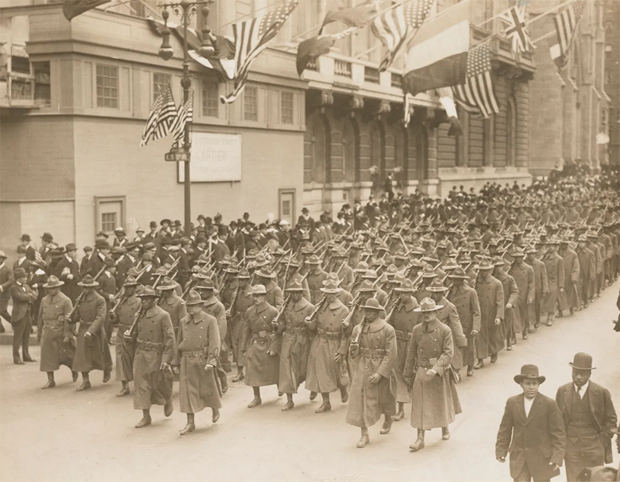 World War I soldiers march in New York