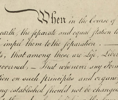 Detail of Declaration of Independence