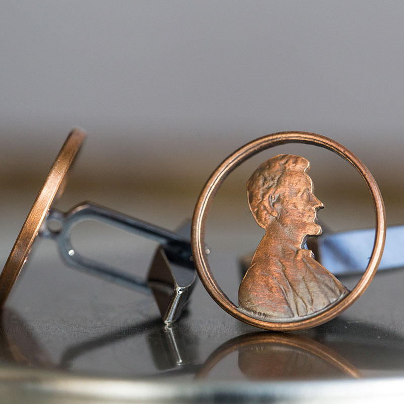 Lincoln penny cuff links