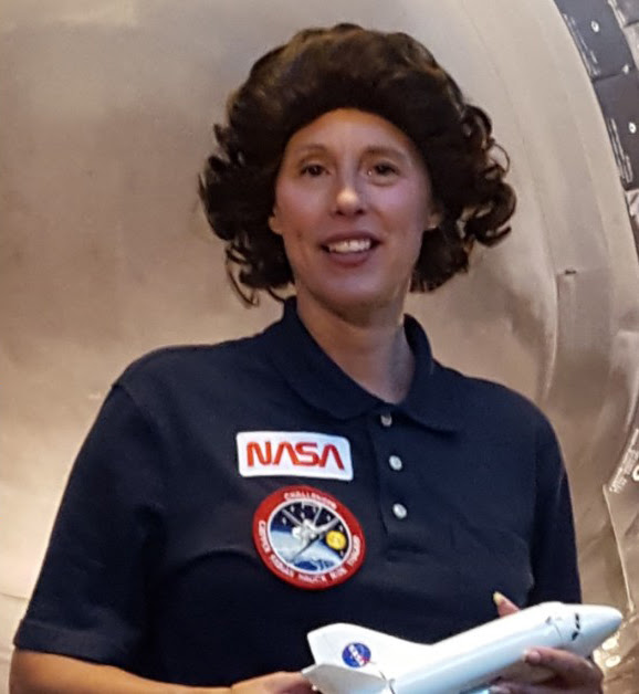 Sally Ride impersonator