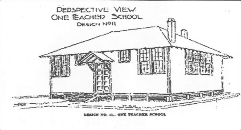 Plan for a school building