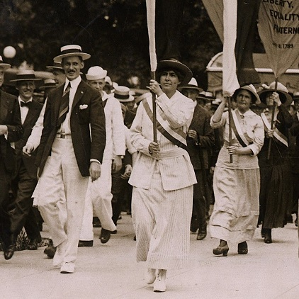 Woman suffrage march