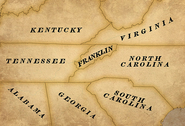 Map of the Lost State of Franklin