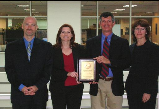 Special Agents Matt Elliott and Rachel Wilson, Computer Forensic Analyst Tom Bennett, and Special Agent Kelly Maltagliati received a PCIE/ECIE Award for Excellence for their efforts in the recovery of 161 Civil War records stolen from NARA's Philadelphia regional archives.