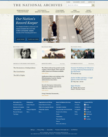Archives Homepage Redesign B