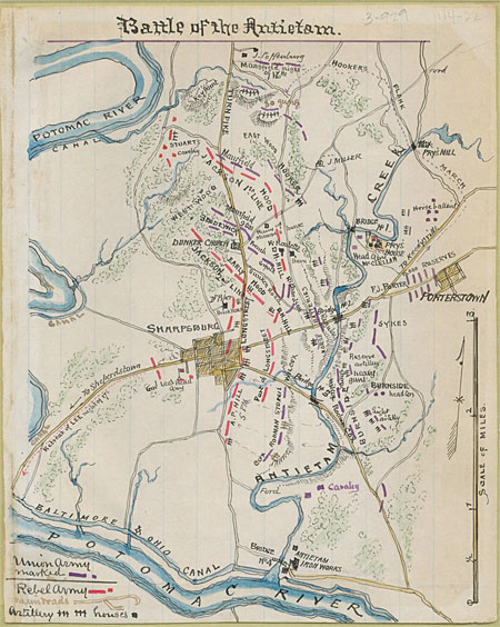 battle of antietam map