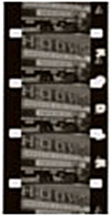 16mm black and white reversal (often a home movie format)