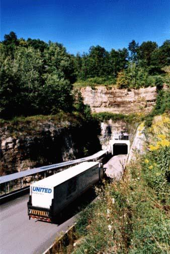 Entrance To National Underground Storage Background Of Facilities