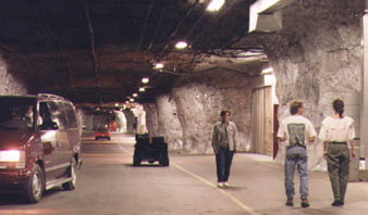 Rock walled wide tunnels
