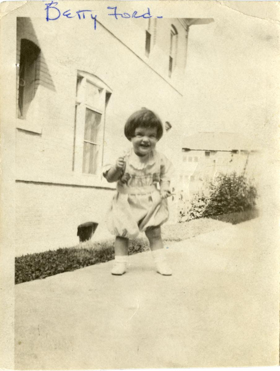 Betty Bloomer as a toddler. Ca. 1920. [Gerald R. Ford Presidential Library and Museum Identifier 0424-D-057 / Will be added to Catalog]