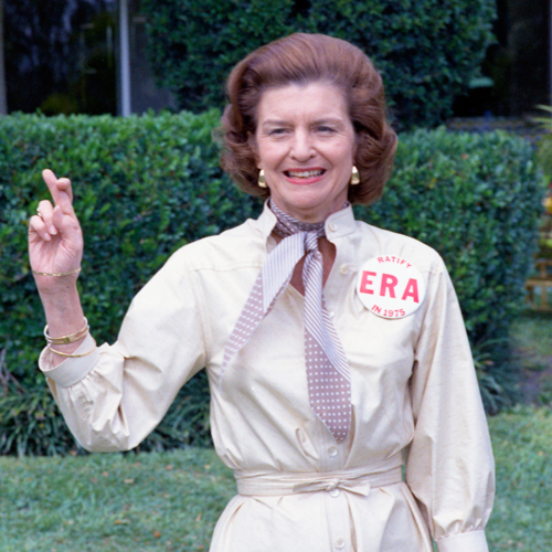 Betty Ford promoting the Equal Rights Amendment