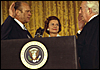 Gerald R. Ford being sworn in as President