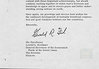 Letter from President Gerald R. Ford to Brezhnev