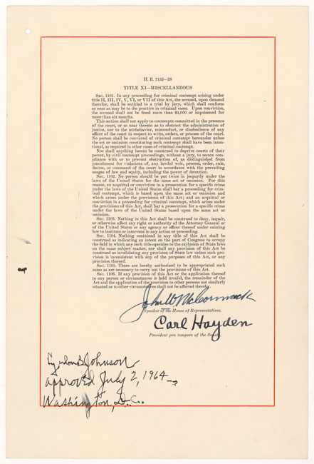 commemorating the civil rights act of 1964 national archives