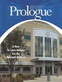 Prologue magazine cover special issue, Opening new building, National Archives at St. Louis