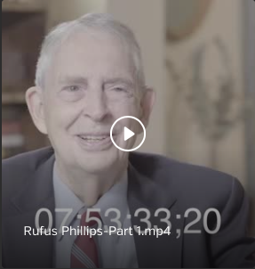 Interview with Rufus Philips, CIA Agent, 1954-1963