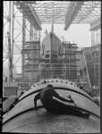 man working on U.S. submarine