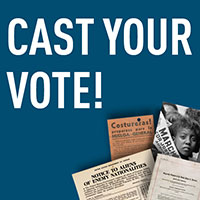 Records of Rights: Cast Your Vote button
