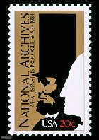 National Archives 50th Anniversary Stamp