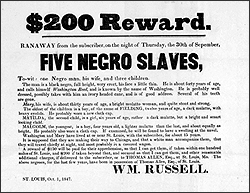 broadside advertising for fugutive slaves