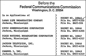 heading for FCC memo, 1979