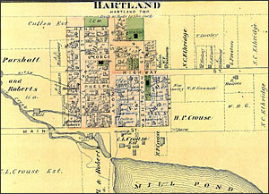 Detail of map of Hartland Township, MI
