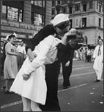 Kiss on V-J Day